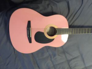 Beautiful Pink Johnson Guitar with Carrying Bag for Sale in Corona, CA