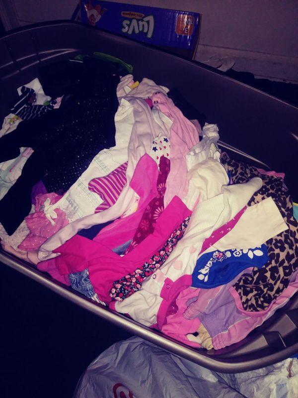 Tote full of baby girl stuff