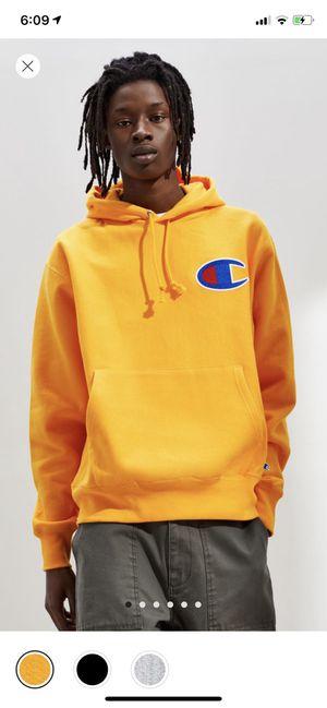 Champion REVERSE WEAVE Hoodie Hooded Sweatshirt Big C Gold Yellow M Medium NEW! for Sale in Milpitas, CA