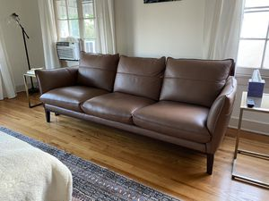 Brand New Modern Brown Leather Sofa for Sale in Los Angeles, CA