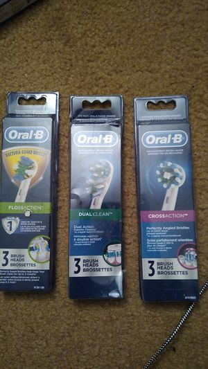 Oral b floss action, dual clean and cross action replacement bristles 1 of each but have as many as you. Need for Sale in Lynn, MA