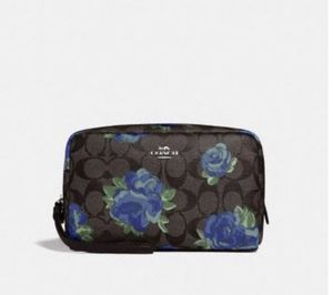 COACH BLUE ROSE FLORAL COSMETIC BAG for Sale in Signal Hill, CA