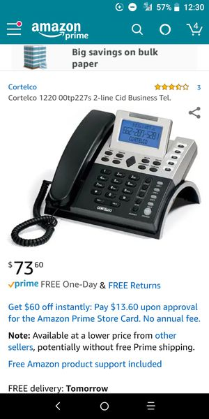 Business phone brand new with two lines price reduced to $5 for Sale in Tampa, FL