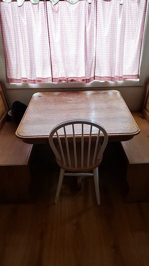 Kitchen Table Nook Bench Square Farm Rustic for Sale in Graham, WA