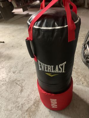 Everlast punching bag with kickboxing cusion for Sale in Chicago, IL