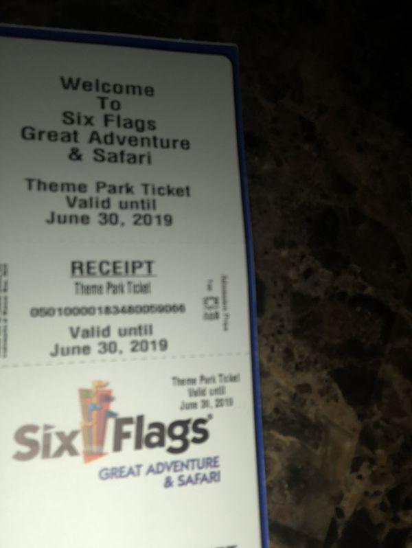 Six flags New Jersey Tickets