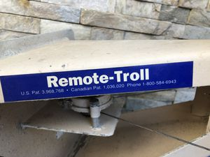 Remote troll outboard motor bracket, wiring and control switch for Sale in San Diego, CA