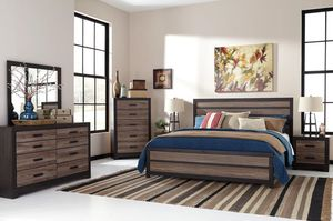 Harlinnnnton Gray/Charcoal Panel Bedroom Set for Sale in Fairfax, VA
