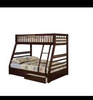 Bunk bed twin over full with drawers for Sale in Miami, FL