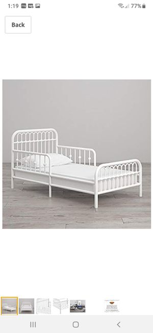 New twin metal bed frame mattress not included for Sale in Charlotte, NC