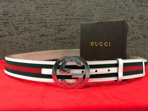 Gucci Interlocking White with Green on Red GG Belt💚 for Sale in Ronkonkoma, NY