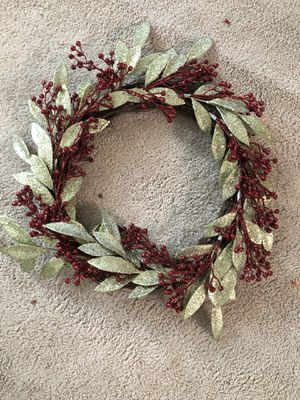 Green and Red Glitter Wreath for Sale in Gaithersburg, MD