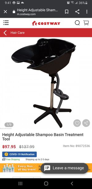 Height Adjustable Shampoo Basin Treatment Tool for Sale in Riverside, CA