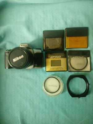 Nikon N65 film Camera plus lenses and charger for Sale in Los Angeles, CA