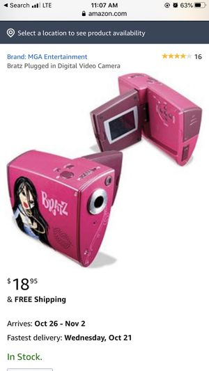 Bratz Plugged in Digital Video Camera for Sale in City of Industry, CA