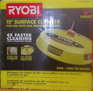 RYOBI 15 in. 3300 PSI Surface Cleaner for Gas Pressure Washer for Sale in Rialto, CA