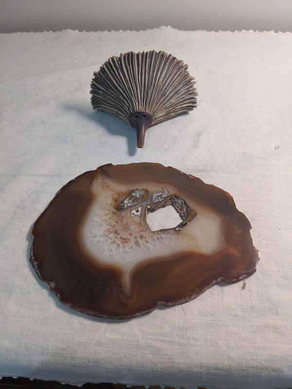 Geode with Hedgehog