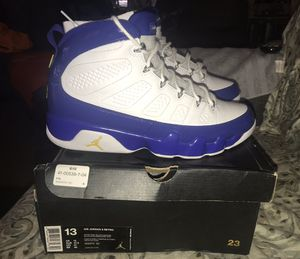 AIR JORDAN RETRO 9 KOBE LAKERS SIZE 13 for Sale in San Jose, CA