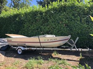 Nice Aluminum Boat! 14ft welded with Mercury...inner tubing & fishing!! for Sale in Portland, OR