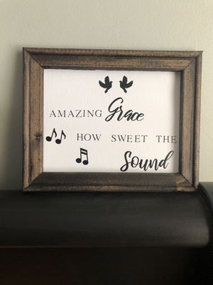 Sign (canvas, frame is 8x10) for Sale in Anoka, MN