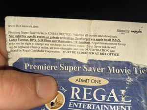 Selling regal Cinema free tickets (not selling for a dollar) make me an offer for Sale in Tacoma, WA