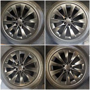 "New 20"" Tesla Model X Black wheels rims tires sensors for Sale in Los Angeles, CA"