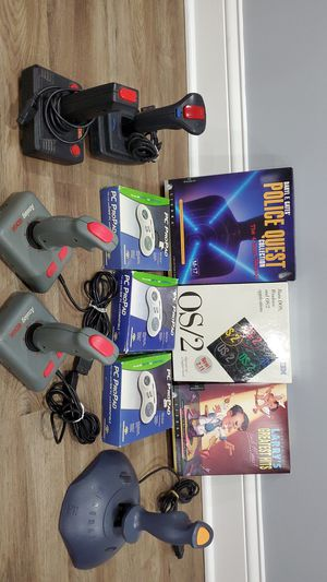Vintage PC games and software and joysticks for Sale in Elmhurst, IL