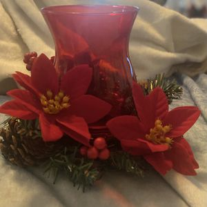Hurricane Lamp Floral Candle Holder for Sale in Midway City, CA