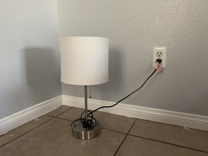 Lamp with white shade for Sale in Henderson, NV