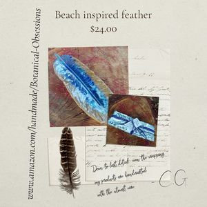 Beach inspired feather stick incense holder/trinket dish for Sale in Campbell, CA
