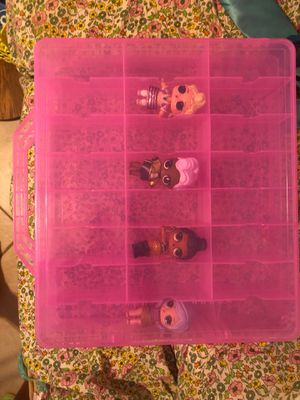 Lol doll collector collecting case and dolls for Sale in Fort Lauderdale, FL