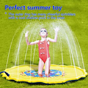 """Sprinkle and Splash Play Mat for Kids - 69"""" Outdoor Sprinkler Water Toys - Perfect Inflatable Sprinkler Pad Summer Swimming Party Beach Pool Water Pl for Sale in New Castle, PA"""