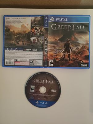 Greedfall (Sony PlayStation 4, 2019) Greed Fall, PS4, Free Shipping. Condition is Like New. Shipped with USPS First Class Package. for Sale in Rancho Cucamonga, CA