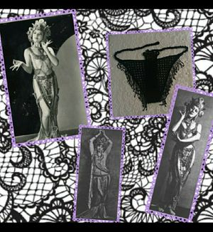 Black beaded Fringe belly dancing Bikini Bottom for Sale in Beaverton, OR