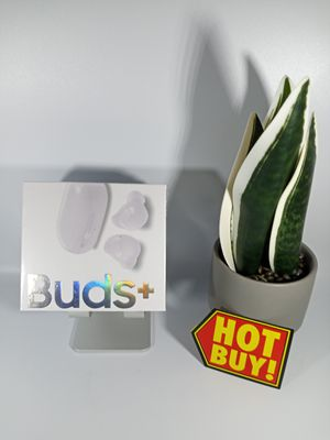Buds + Earbuds, 11 hrs Play Time, 2 Way Speaker for Rich Sound, Triple Mics for Clear Voice Call and Qi Compatible Wireless Charging. for Sale in Loma Linda, CA