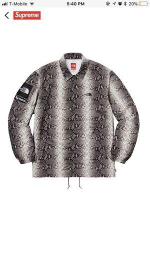 Supreme Tnf coaches jacket black medium for Sale in South Miami, FL