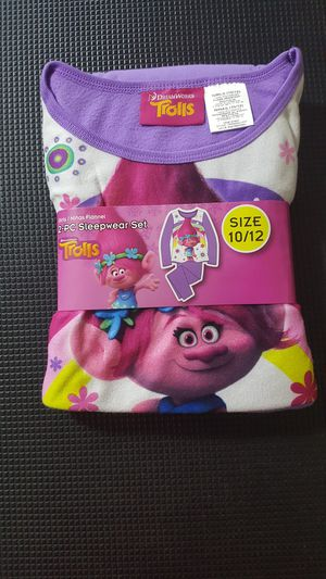 Troll pajama set size 10/12 for Sale in Queen Creek, AZ