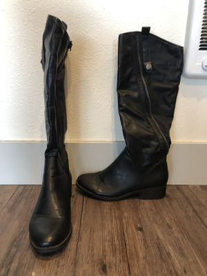 Black boots size 9 for Sale in Portland, OR