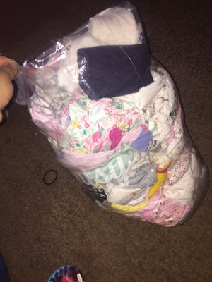 Very gently used babygirl clothing & rocker & layette for Sale in North Saint Paul, MN
