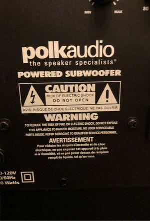 Polk audio subwoofer for Sale in Battle Ground, WA