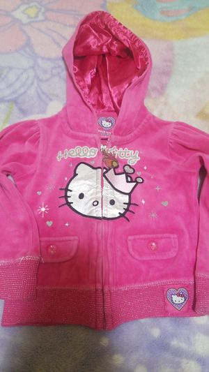 Hello Kitty pink zip-up hoodie for little girls for Sale in Los Angeles, CA