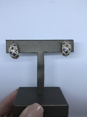 Diamonds and sapphires earrings SALE $950 for Sale in Miami, FL