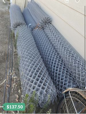 Brand New 6ft 11 gauge Chainlink fence 50' Rolls-$137.50 Each for Sale in Laton, CA