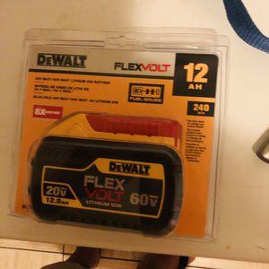 Flexvolt 20v 60 volt Dewalt battery new for Sale in Yonkers, NY