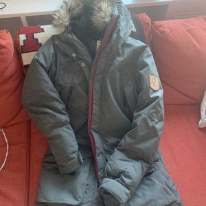 Goose Down Fjallraven Charcoal Colored Puffer Coat for Sale in Arlington, VA