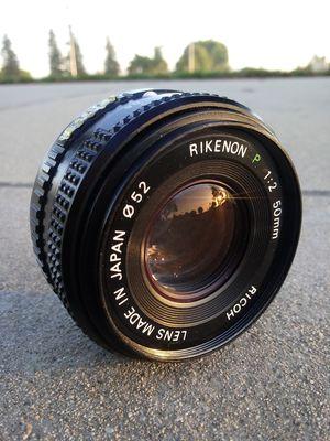 Rikenon P 50mm f1:2 Pancake in Pentax P/K mount FLAWLESS for Sale in Montclair, CA