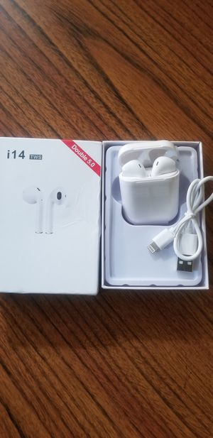 White wireless earbuds new rechargeable bluetooth not AIRPODS for Sale in Santa Clara, CA