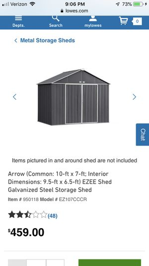 Brand New Ezee Metal Storage Shed 10' x 7' for Sale in La Verne, CA