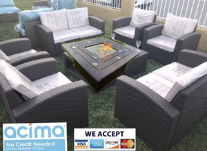 New Patio furniture Set with Fire Pit for Sale in Riverside, CA