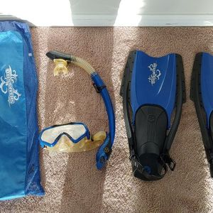 Scuba Diver Equipment, Blue for Sale in Beaumont, CA